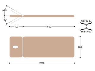 Массажная кушетка медицинская с электроприводом EH2