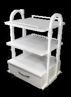 Столик на колесиках с ящиком  Трио-М