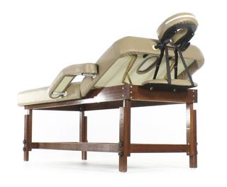 Стационарный массажный стол деревянный FIX-1A