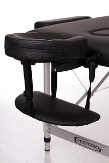 Стол массажный складной Алюм 2Л (черный)