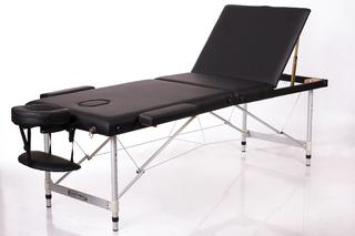 Стол массажный складной Алюм 3 (черный)